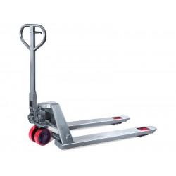 Тележка гидравлическая TOR BX 2.0T 550*1150*85mm нержавеющая сталь (полиуретан.колеса)