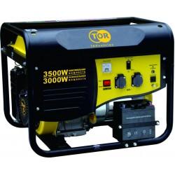 Генератор бензиновый TOR TR3500E 3,0кВт 220В 15л с кнопкой запуска