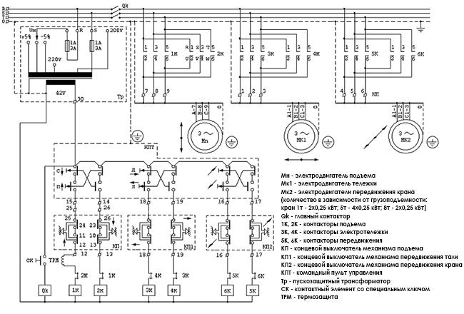 подключение тельфера фото схемы манок толстого провода